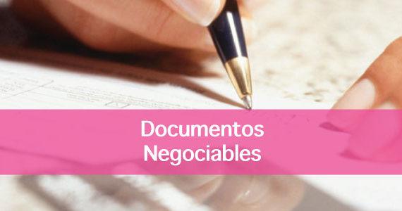 El valor de hacer del pagaré emitido o del cheque un documento negociable