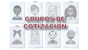 Diferentes grupos de cotización
